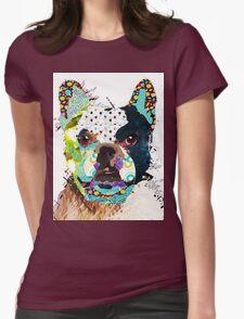 Bulldog portrait Womens Fitted T-Shirt