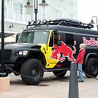 Red Bull Grand Prix Mascot Truck by Sandra Gray