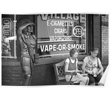 Cigar Store Indian in an E-Smoke World Poster