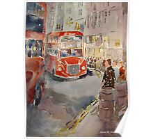Bus Queue London Cities Art Gallery 9 Poster
