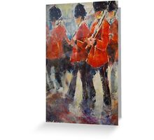 Marching Guards On Parade - Soldiers Art Gallery Greeting Card
