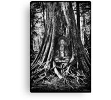 ☀ ツBUDDA IN TREE TRUNK☀ ツ Canvas Print