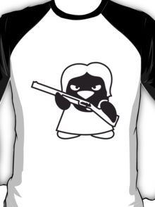 Shotgun Penguin Girl T-Shirt