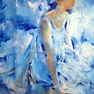 Dancer In Blue - Ballet & Dance Art Gallery by Ballet Dance-Artist