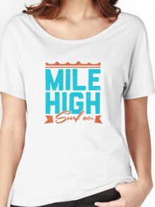 Mile High Surf Co. - Blue + Orange Women's Relaxed Fit T-Shirt