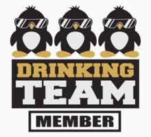 Penguin Drinking Team Member by Style-O-Mat