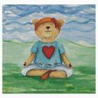 Live Love Yoga Bear  by Monica Batiste
