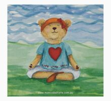 Live Love Yoga Bear  by Monica Batiste