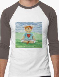 Live Love Yoga Bear  Men's Baseball ¾ T-Shirt