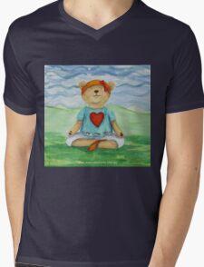 Live Love Yoga Bear  Mens V-Neck T-Shirt