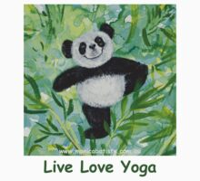 Live Love Yoga Panda Bear by Monica Batiste