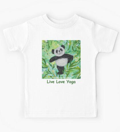 Live Love Yoga Panda Bear Kids Tee