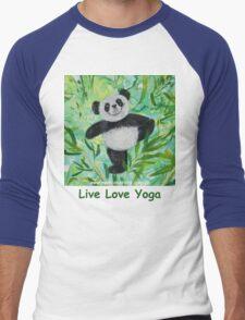 Live Love Yoga Panda Bear Men's Baseball ¾ T-Shirt