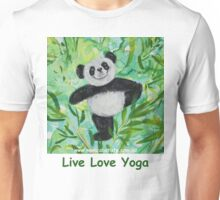 Live Love Yoga Panda Bear Unisex T-Shirt
