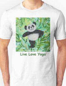 Live Love Yoga Panda Bear T-Shirt