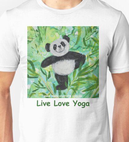 Live Love Yoga Panda Bear Unisex T-Shirt