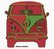 Hippie VW Bus  by Frank Schuster