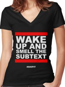 #ShipIt Women's Fitted V-Neck T-Shirt