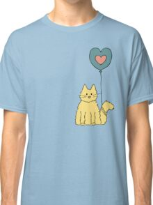 My cat loves balloons Classic T-Shirt