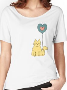 My cat loves balloons Women's Relaxed Fit T-Shirt