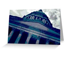 Olympia Capitol Building in Blue Greeting Card