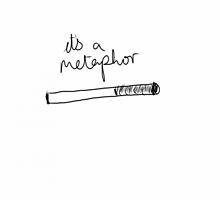 It's a metaphor  by Laurel Denae