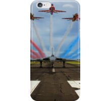 Red Arrows Tribute to Vulcan XH558 iPhone Case/Skin