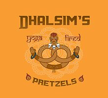 Street Vendor 2- Dhalsim's  yoga fired Pretzels by RootBeerRobot