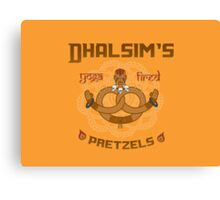 Street Vendor 2- Dhalsim's  yoga fired Pretzels Canvas Print