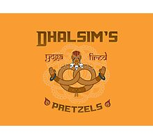 Street Vendor 2- Dhalsim's  yoga fired Pretzels Photographic Print