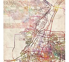 Albuquerque map Photographic Print