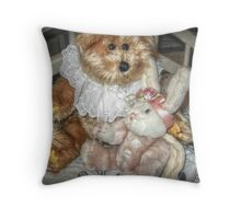 Even Teddy Bears Need Something To Cuddle Throw Pillow