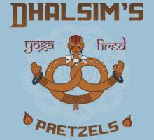 Street Vendor 2- Dhalsim's  yoga fired Pretzels Kids Clothes