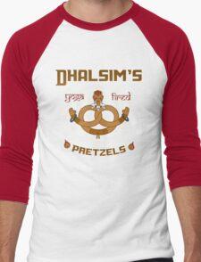 Street Vendor 2- Dhalsim's  yoga fired Pretzels Men's Baseball ¾ T-Shirt