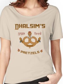 Street Vendor 2- Dhalsim's  yoga fired Pretzels Women's Relaxed Fit T-Shirt