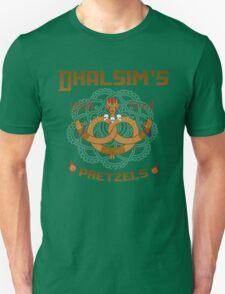 Street Vendor 2- Dhalsim's  yoga fired Pretzels T-Shirt