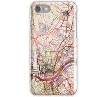 Cincinnati map iPhone Case/Skin