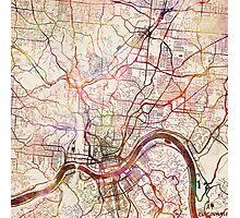 Cincinnati map Photographic Print