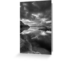 Granite Monsoon BW Greeting Card