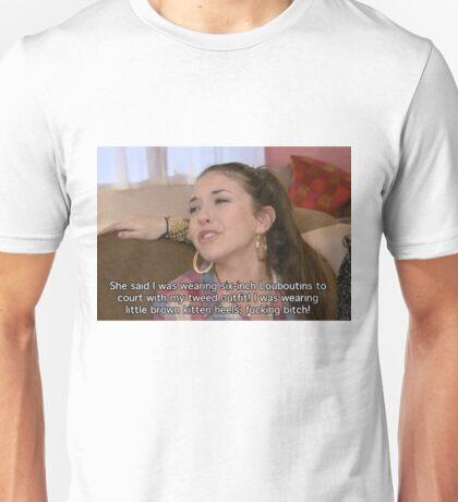"""Six-inch Louboutins!"" Unisex T-Shirt"