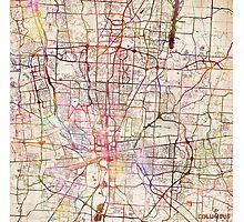 Columbus map Photographic Print