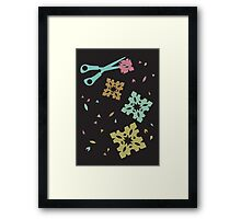 Paper and Scissors Framed Print