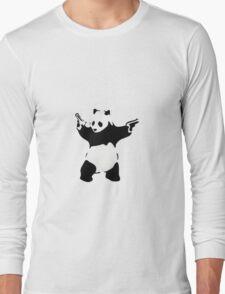 Banksy Panda With Handguns Long Sleeve T-Shirt