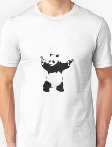 Banksy Panda With Handguns Unisex T-Shirt