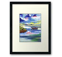 Boat n Colors Framed Print