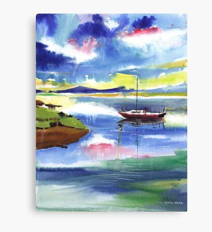 Boat n Colors Canvas Print