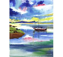 Boat n Colors Photographic Print