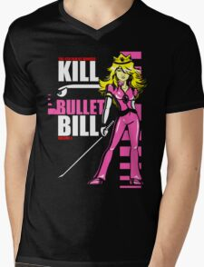 Kill Bullet Bill (Black & Magenta Variant) Mens V-Neck T-Shirt