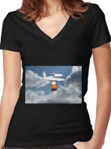 The Aerial Screw Women's Fitted V-Neck T-Shirt