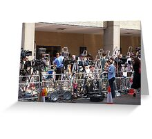 The media await the new royal arrival Greeting Card